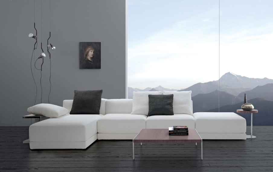 Ecksofa Textil Polster Avon, Asnaghi (Made in Italy)