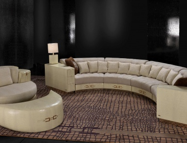 stilvolle runde halbrunde sofas und bequeme ausziehcouch luxuryfurniture mr. Black Bedroom Furniture Sets. Home Design Ideas