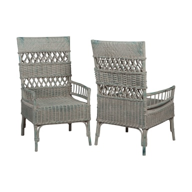 Sessel Woven Rattan Arm Chairs